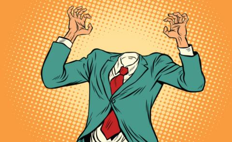Pop art of cartoon headless businessman © studiostoks - shutterstock