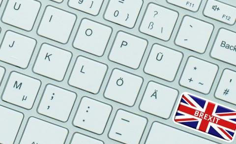 Image of a keyboard with the word brexit on it