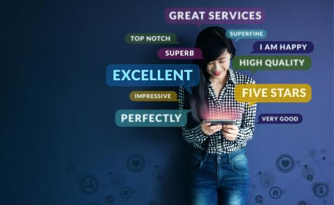 Happy customer experience concept © Black Salmon - shutterstock