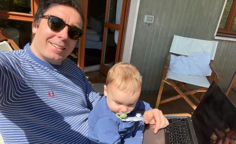 Image of MongoDB's Dominic Wellington Working from home