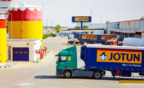 Jotun factory in Yanbu Saudi Arabia