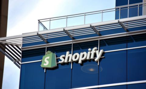 Shopify sign on its HQ office in Ottawa © Paul McKinnon - shutterstock