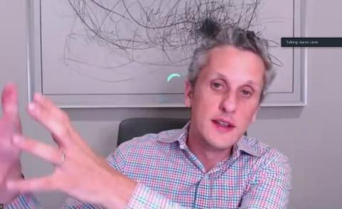 Aaron Levie Box CEO in screengrab from Zoom call 2020-06