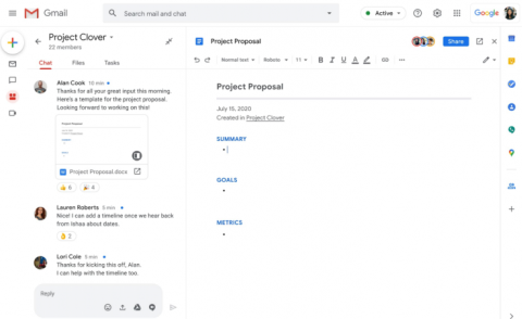 G Suite chat room project