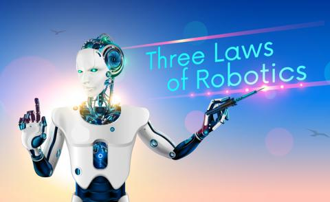 AI ethics robot teaches Asimov's three laws © Andrey Suslov - shutterstock