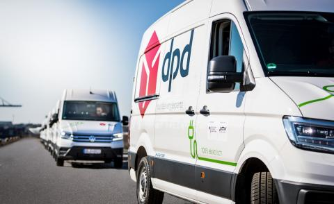 Image of a DPD van