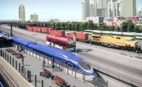 Image of Wabtec freight rail and cars