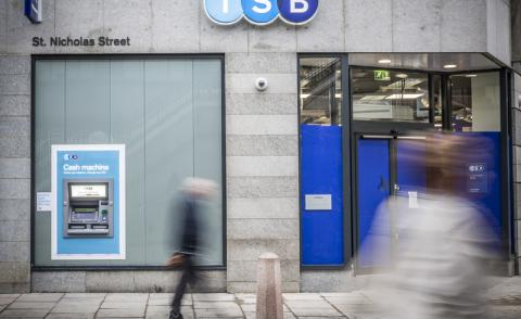 An image of a high street TSB bank