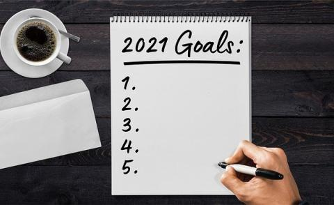 Image of a list of 2021 goals