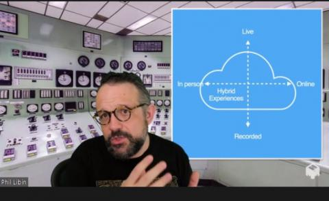 Phil Libin mmhmm on Zoom call